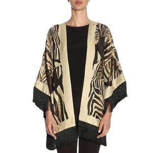 Etro kimono vest with fringe one size in VGUC